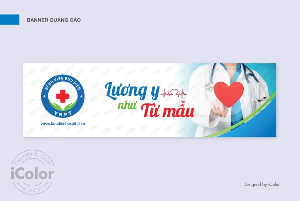 Thiết kế bộ nhận diện thương hiệu bệnh viện Bưu điện