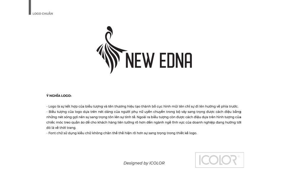 Ý nghĩa logo Thương hiệu thời trang nữ NEW EDNA