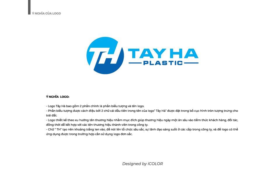 Ý nghĩa logo Công ty TNHH Nhựa Tây Hà