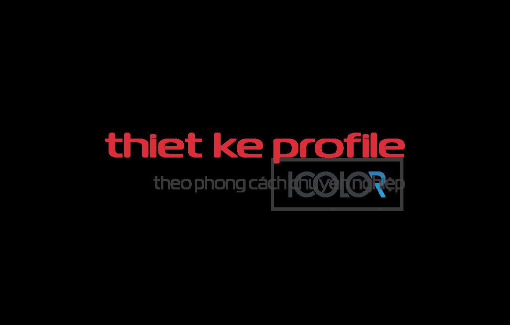 iColor thiết kế profile theo phong cách chuyên nghiệp