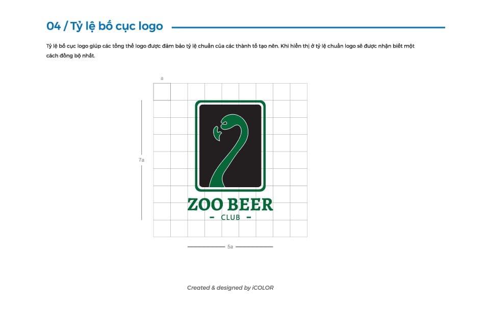 Tỷ lệ bố cục logo
