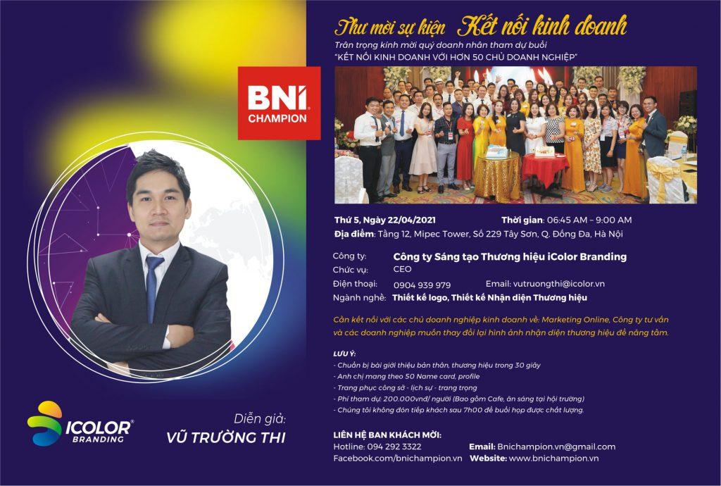 Sự kiện ra mắt team tư vấn xây dựng hình ảnh thương hiệu cho các danh nghiệp tại BNI