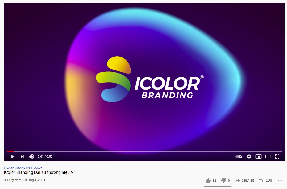 Video Linh vật Vi biểu tượng của iColor Branding