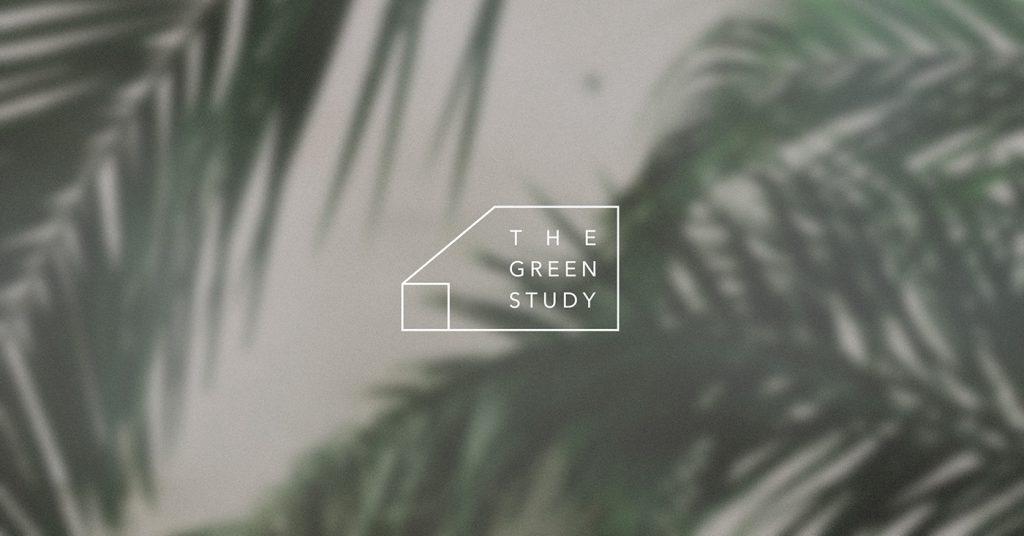 Bộ nhận diện thương hiệu cho không gian tối giản xanh mát của phòng học Green Study