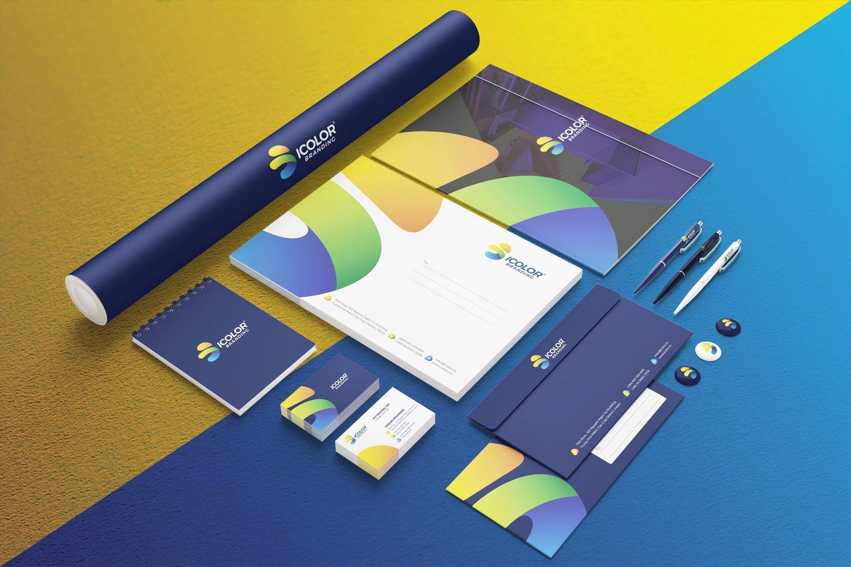 Bộ nhận diện thương hiệu iColor Branding