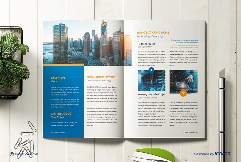 Thiết kế profile Công ty tư vấn và Giám định Choice
