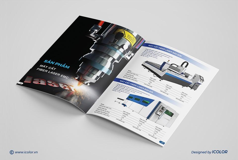 Thiết kế catalogue CTCP Đầu tư Công nghệ EMC