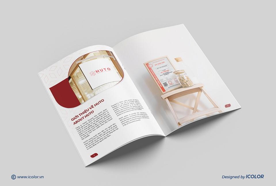 Thiết kế profile Công ty TNHH Thương mại Huto
