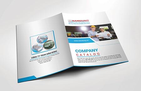Thiết kế catalogue Công ty Năm Dũng