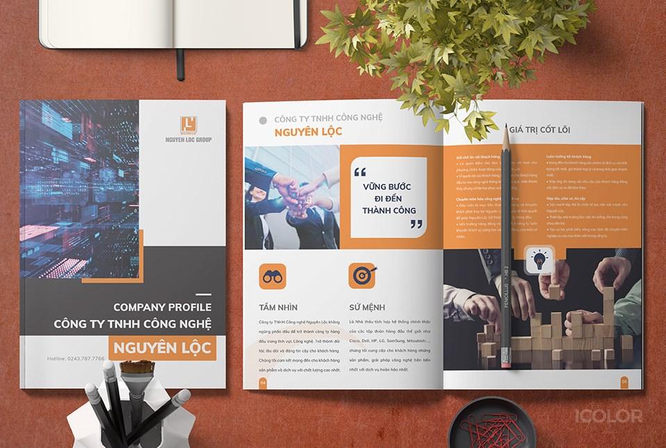 Thiết kế profile Công ty TNHH Công nghệ Nguyên Lộc