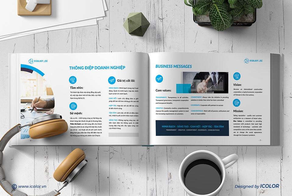 Thiết kế profile Công ty CP Thiên Hà Xanh