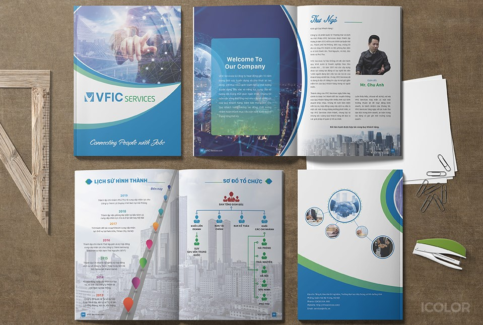 Thiết kế profile Công ty VFIC Services