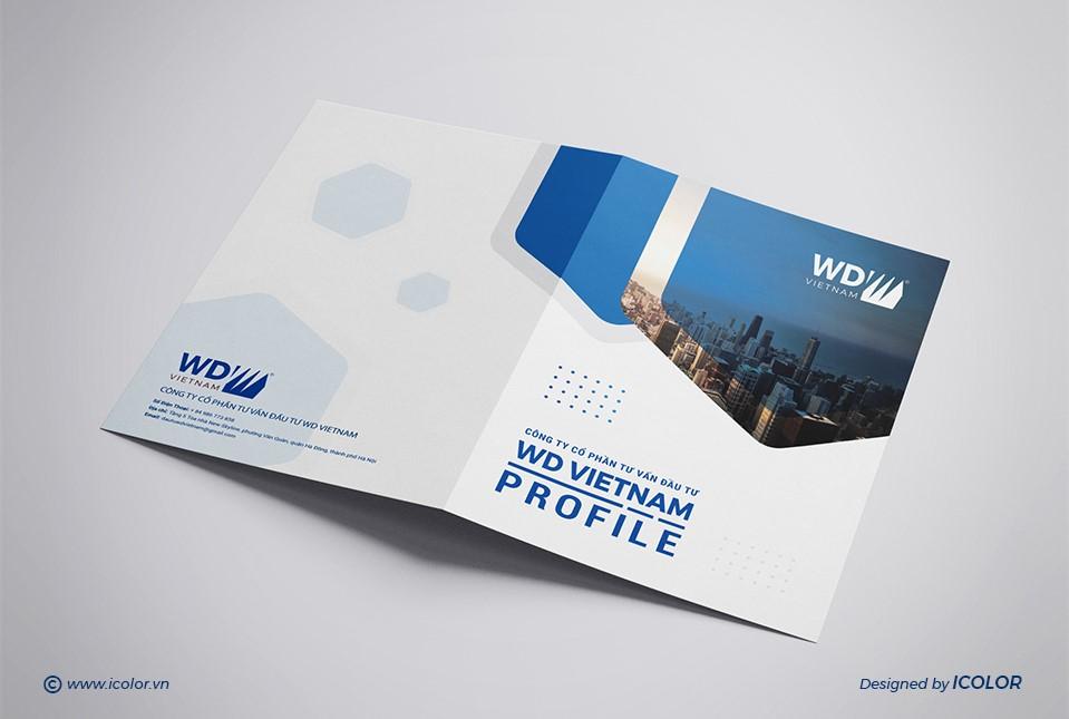Thiết kế profile Công ty CP Tư vấn đầu WD Việt Nam