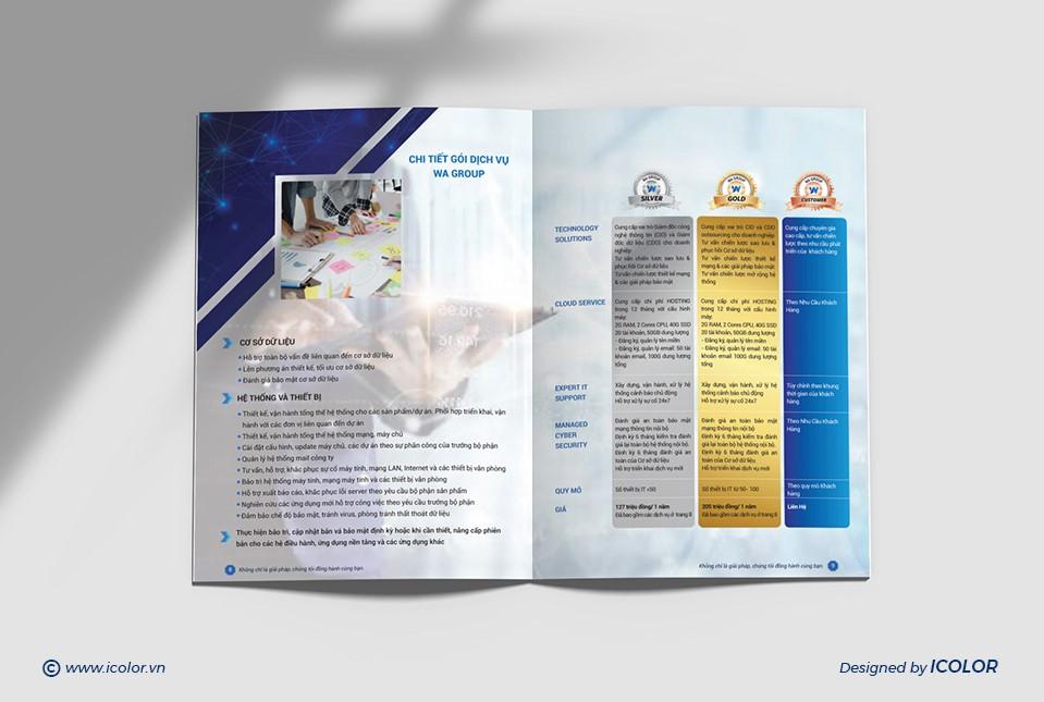 Thiết kế profile Công ty Công nghệ WA Group