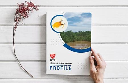 Thiết kế profile Viện sinh thái và Bảo vệ công trình Wip