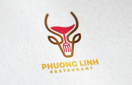 Thiết kế logo Nhà hàng Phương Linh Restaurant