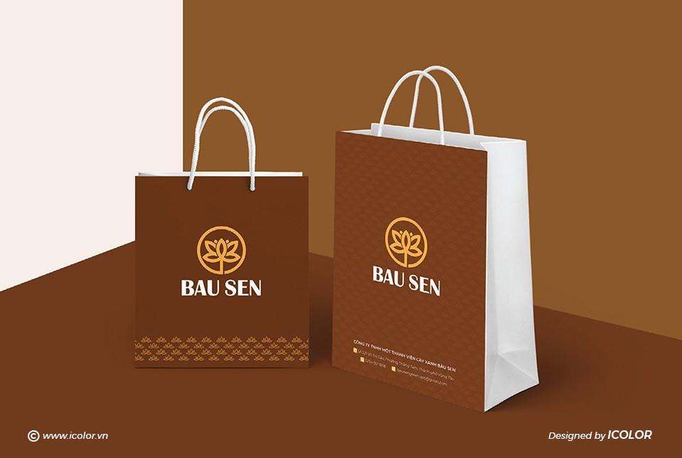 Thiết kế bộ nhận diện thương hiệu Công ty Cây xanh Bàu Sen